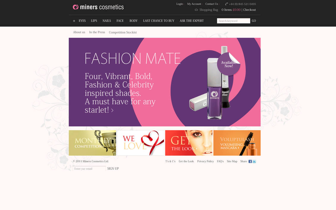 cosmetics online store by bratn