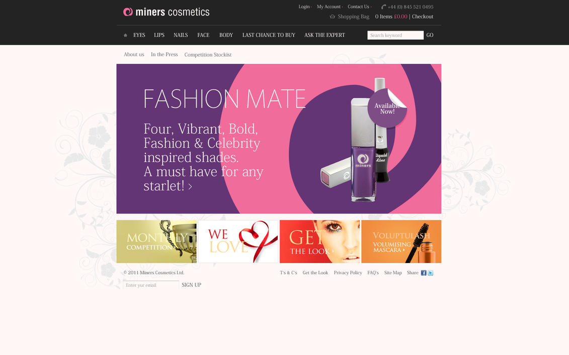 Online Cosmetics Store in the