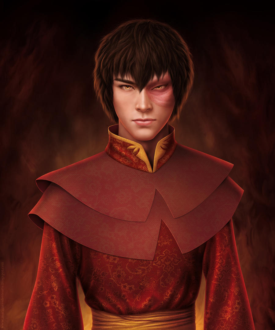 realistic painting of Zuko 2 by missbennet