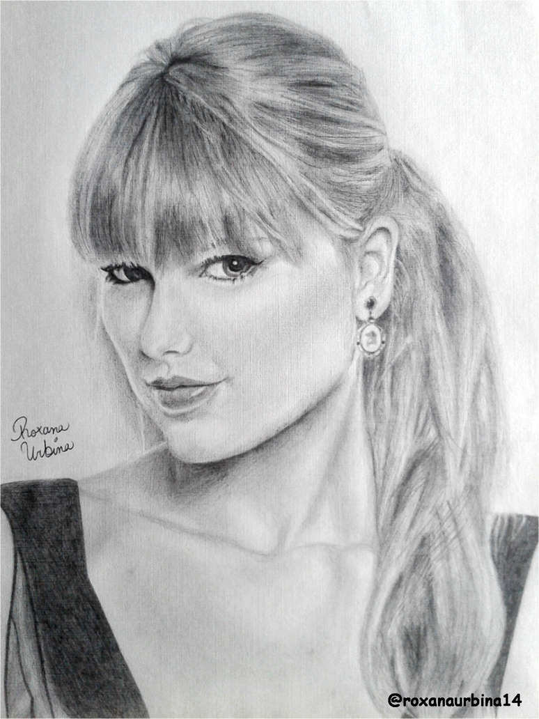 Taylor swift pencil drawing by roxanaurbina on deviantart