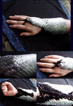Crocheted Scale Arm Warmers