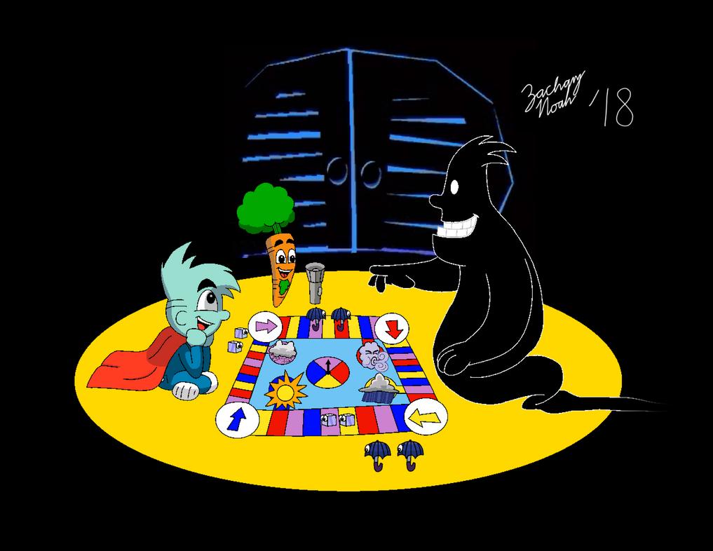 Game Night with Pajama Sam, Darkness, and Carrot by ZacharyNoah92