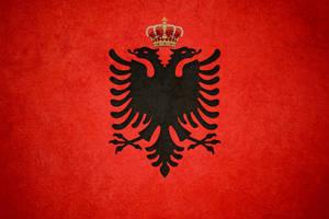 royal grunge flag of Albania by ChR1sAlbo