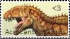 Acrocanthosaurus Stamp by Acro-Sethya