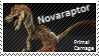 Primal Carnage feathered Novaraptor Stamp by Acro-Sethya