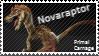 Primal Carnage feathered Novaraptor Stamp by Acro-Sethya