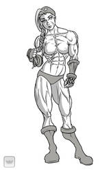 Cammy grayscale by RookErrant