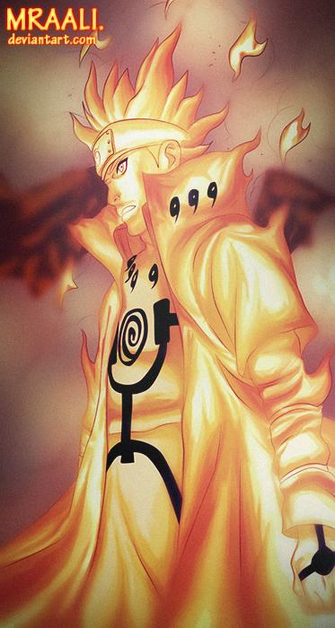Minato Kyuubi Mode [Naruto 631] by MrAali