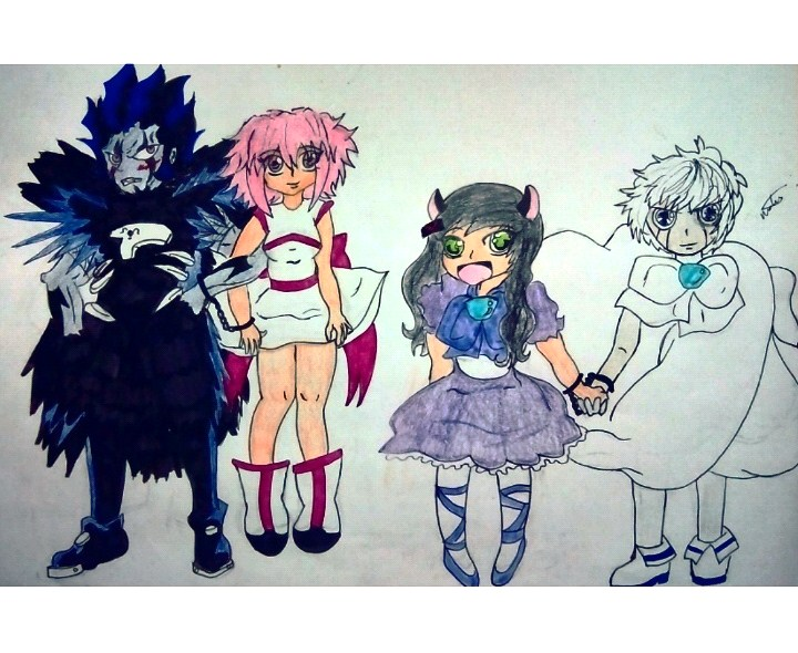 Brago and Rose / Puki and Zeon ( Zatch Bell ) by LadyMaryJaneHolland