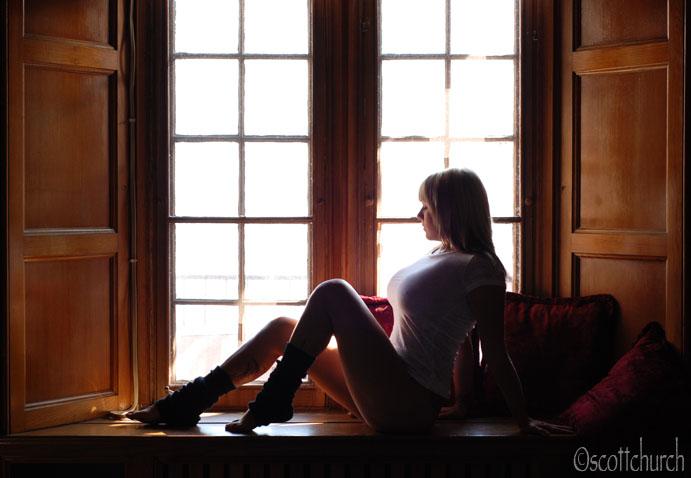 mallory, window, t-shirt