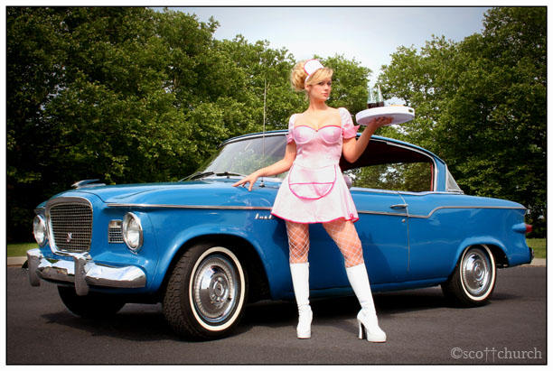 Jenna and the Studebaker by scottchurch