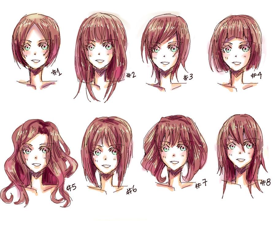 different ways to draw anime hair ) Manga work I admire