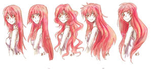 Anime Long Hair References by nyuhatter