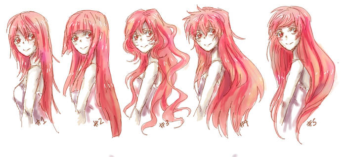 Anime Long Hair References