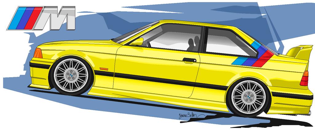 BMW M E Drawing By YavuzSelim On DeviantArt - 1993 bmw m3