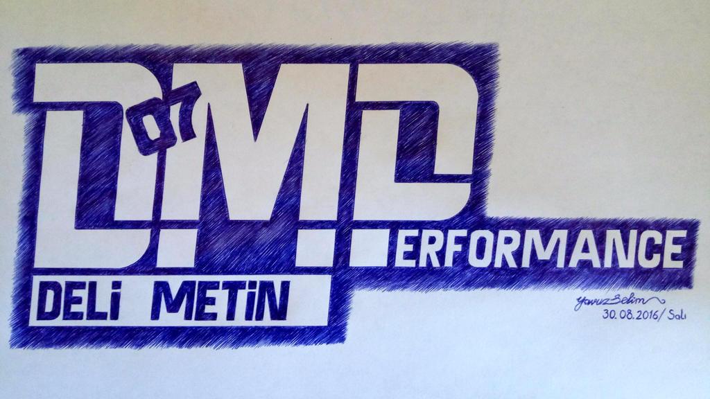 Deli Metin Performance (DMP) logo drawing work. by YavuzSelim07