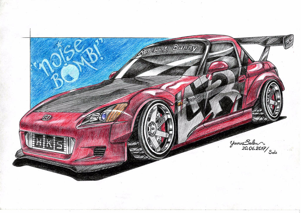 Honda S 2000 Rocket Bunny modified drawing. by YavuzSelim07