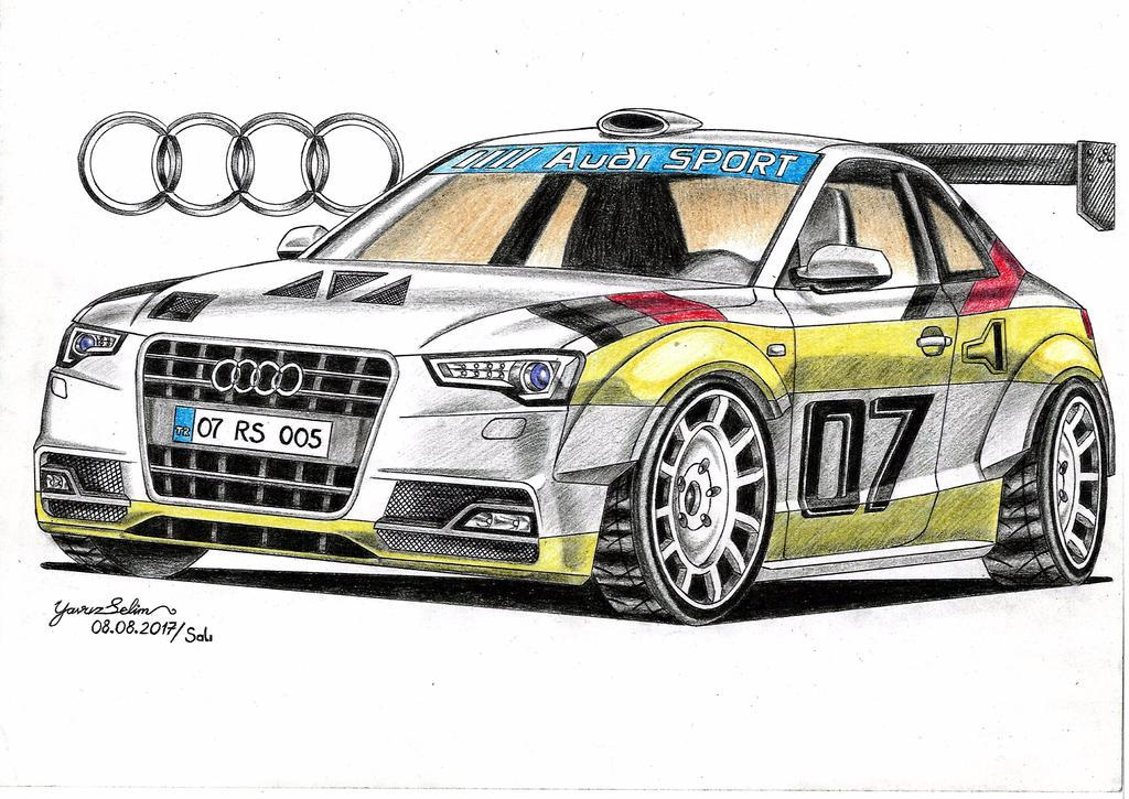 Audi RS 5 Quattro rally car design drawing. by YavuzSelim07