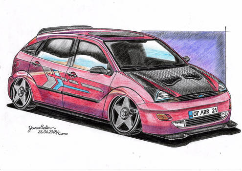 2000 Ford Focus modified drawing.