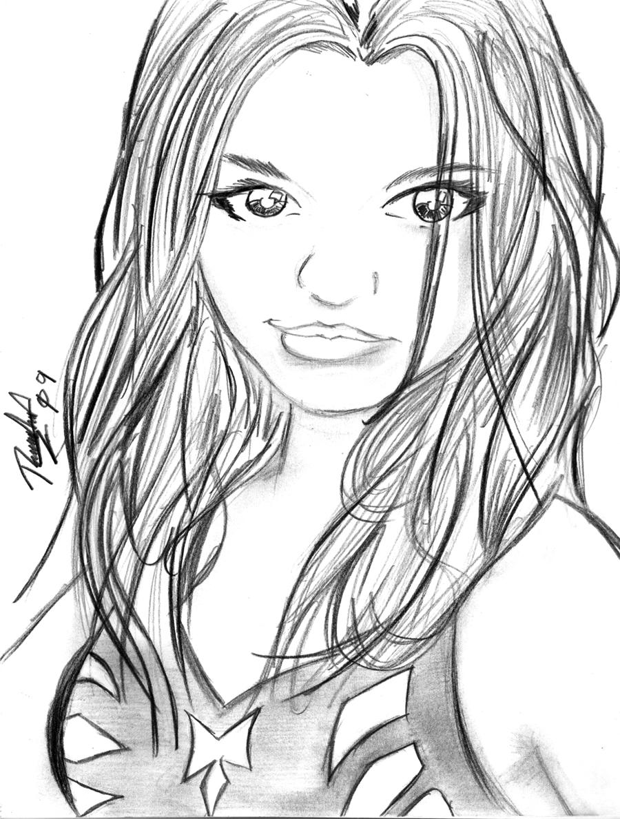 Atractivo Persona En Blanco Para Colorear Ilustración - Dibujos Para ...