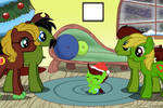 MLP - Jungle Heart's Family, At Hearth's Warming by OptimusV42