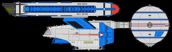 Star Trek Infinity - USS Nico NCC-16-05 (Gift) by OptimusV42