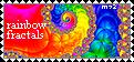 Rainbow Fractals Stamp by Meztli72