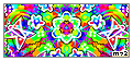 Rainbow Butterflies And Flowers Stamp by Meztli72