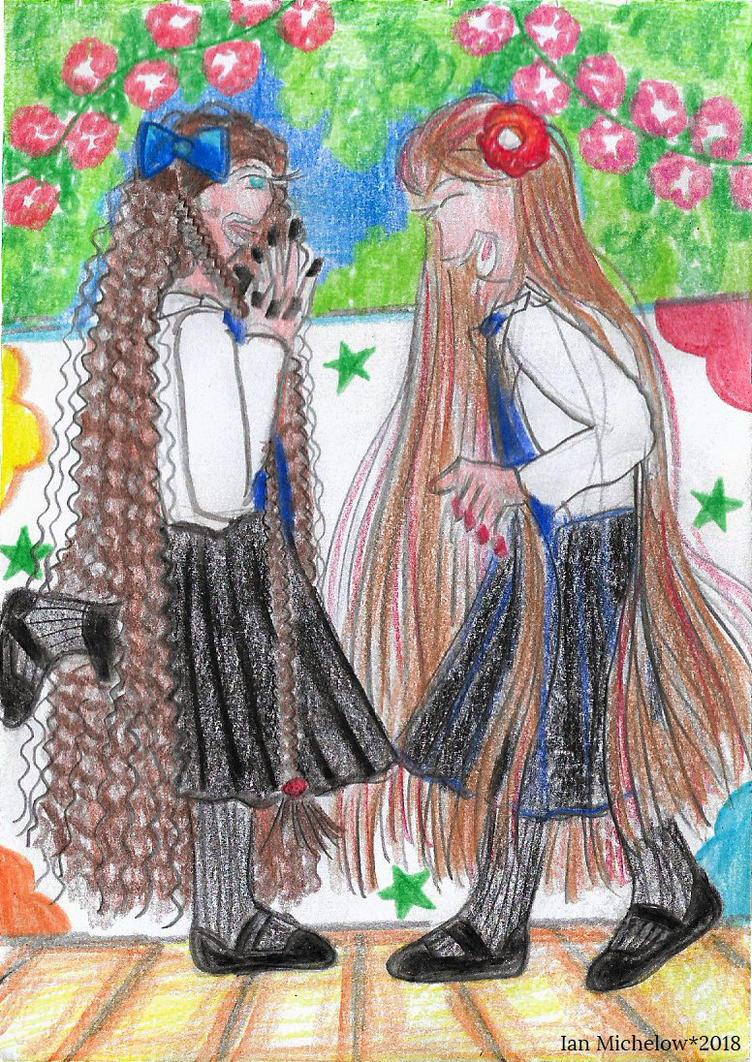 School Girls [Doodle] by Meztli72