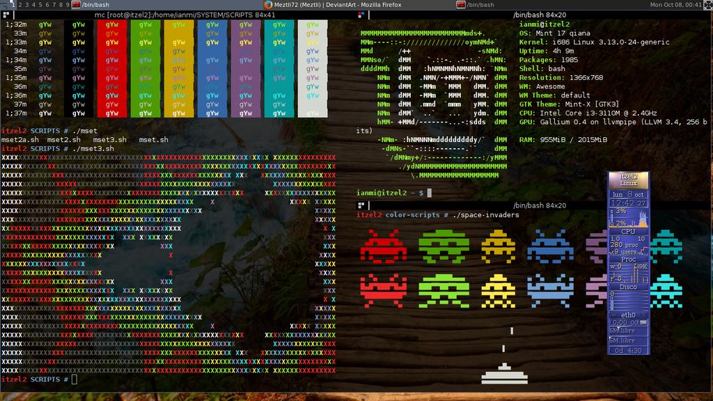 GNU/Linux Screenshot (Linux Mint Qiana) [River] by Meztli72