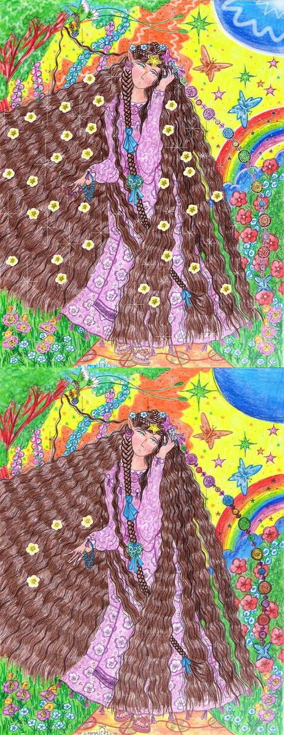 Llamryl, The Elf Princess (For Showcase) by Meztli72