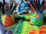 Colorful paper-made designs for pencil holders 2