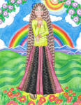 The Lady And The Rainbow by Meztli72