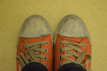 Calvin Klein Orange Sneakers by filmerq