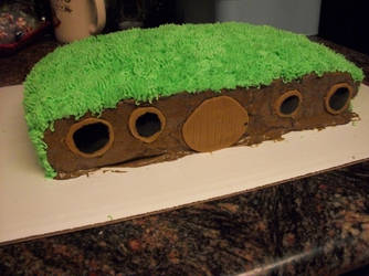 Hobbit Home Cake by BloodWolf19