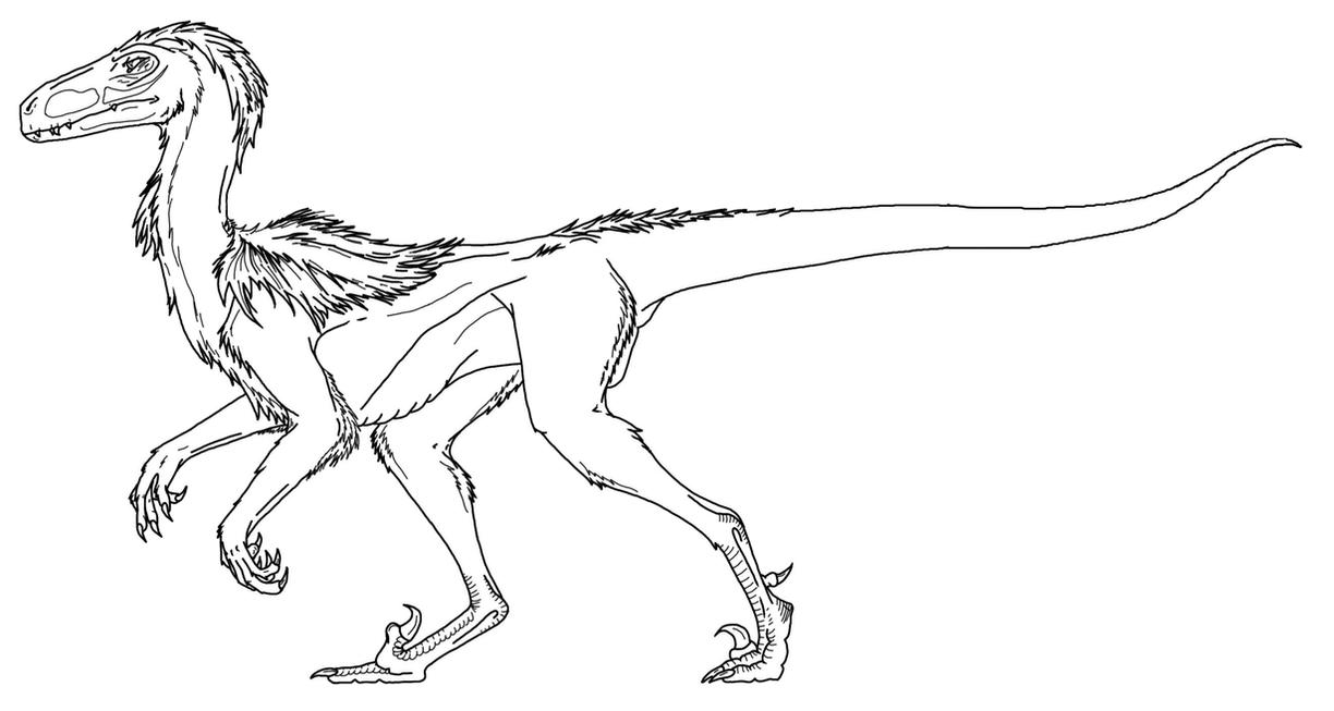 deinonychus coloring pages - photo#1