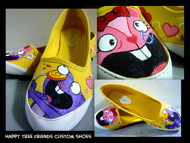 Happy Tree Friends Custom Shoe by lymdul