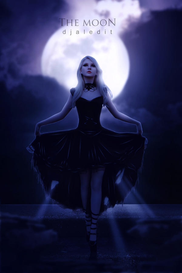 The Moon by djaledit