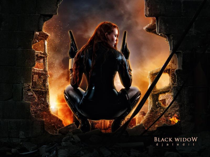 Black Widow by djaledit