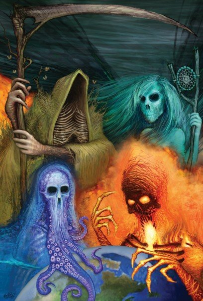 4 Elements Of Art : Elements of the apocalypse by dislodge on deviantart