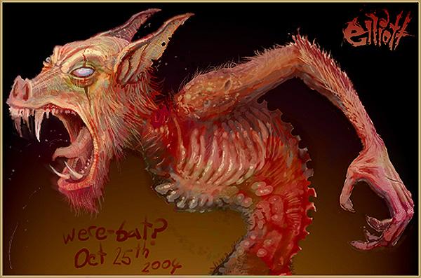 Werebat by dislodge on DeviantArt
