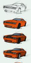 Dodge Challenger SRT - steps