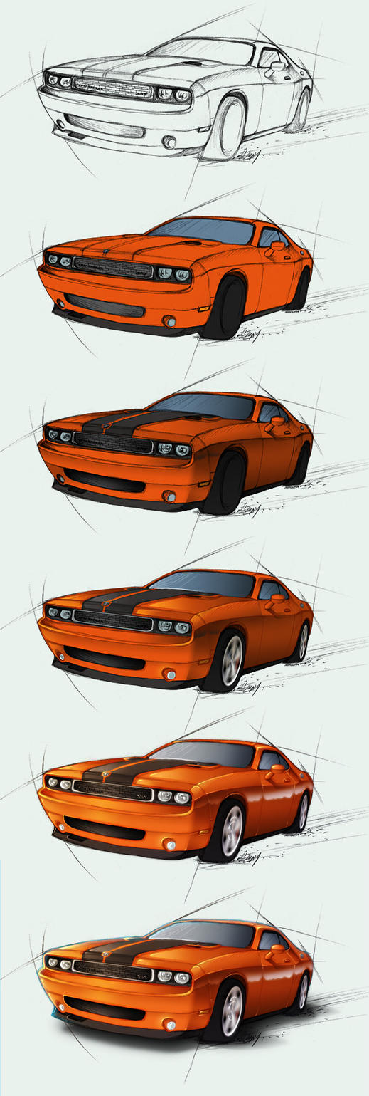 Dodge Challenger SRT - steps by Lizkay