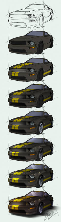Mustang Shelby GT-H - Steps