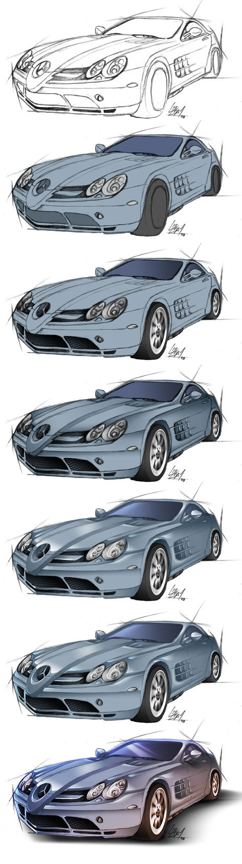 Mercedes McLaren SLR - steps by Lizkay