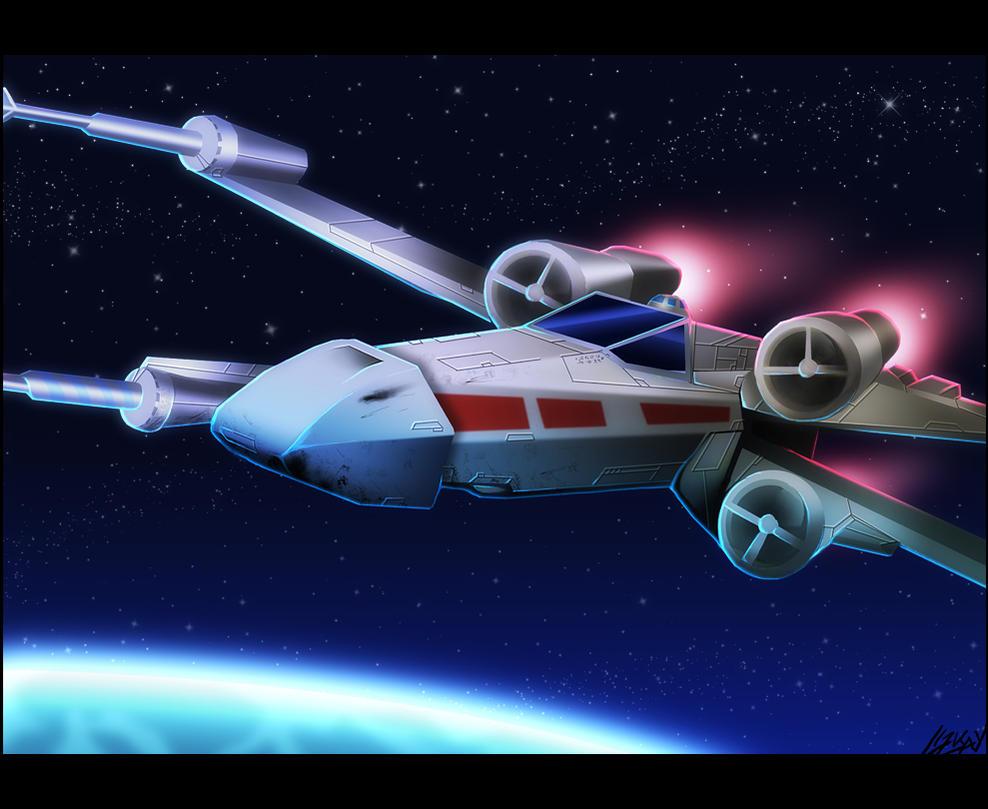 X-Wing - Speedpainting by Lizkay