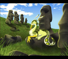- Easter Island Gryphon - by Lizkay