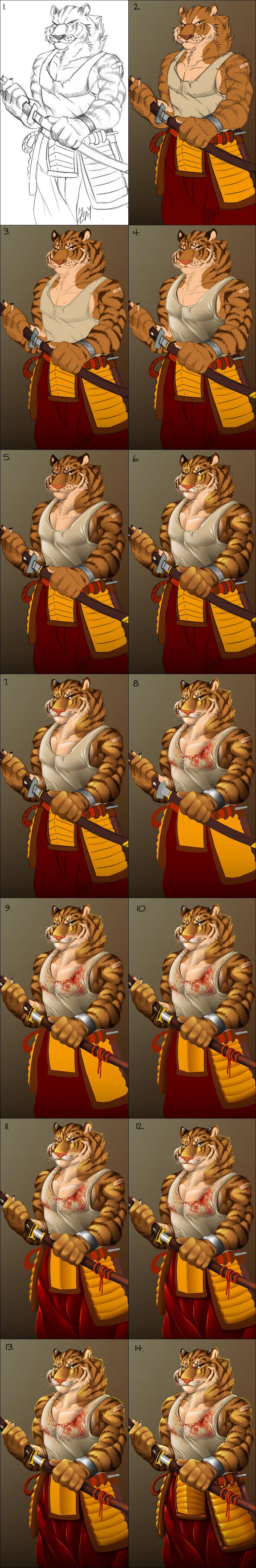 Urban Tiger Warrior - steps