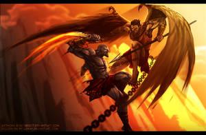 Kratos VS Adrastos - Collab by Lizkay