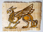 Egyptian Gryphon - on Papyrus